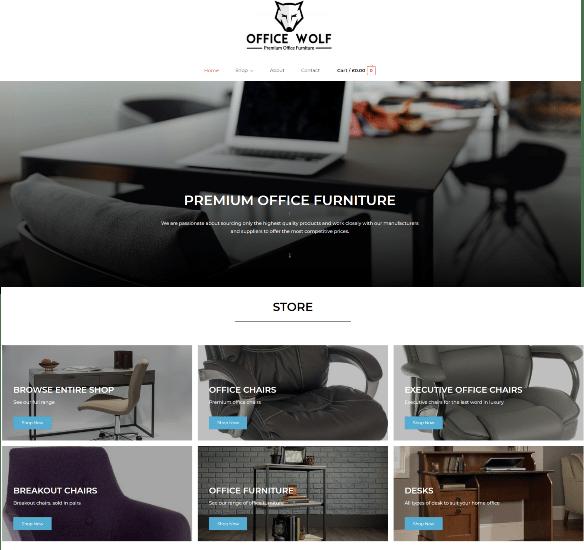 Website Design Falkirk client Office Wolf