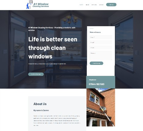 Website Design Falkirk client A1 Window Cleaning Services