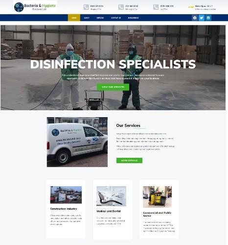 Website Design Falkirk client Bacteria and Hygiene Scotland Ltd